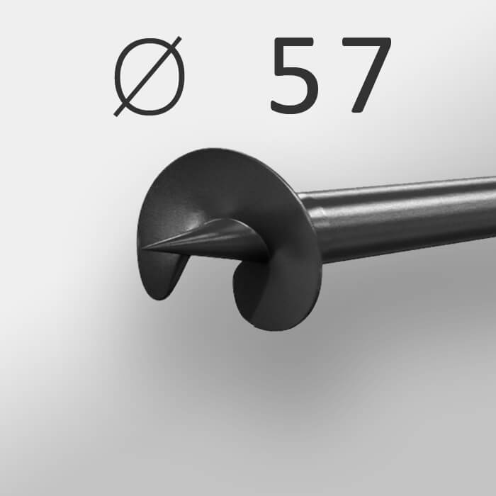 Винтовая свая Ø 57 мм