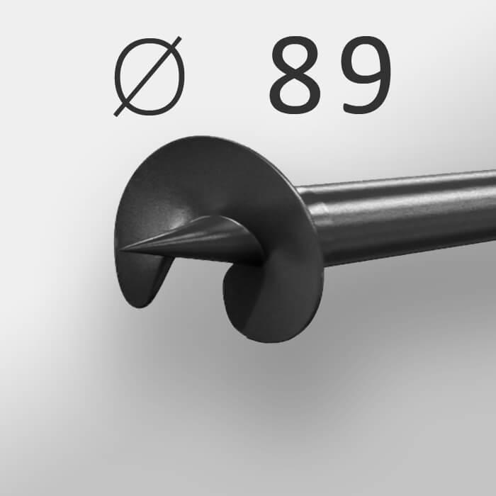 Винтовая свая Ø 89 мм